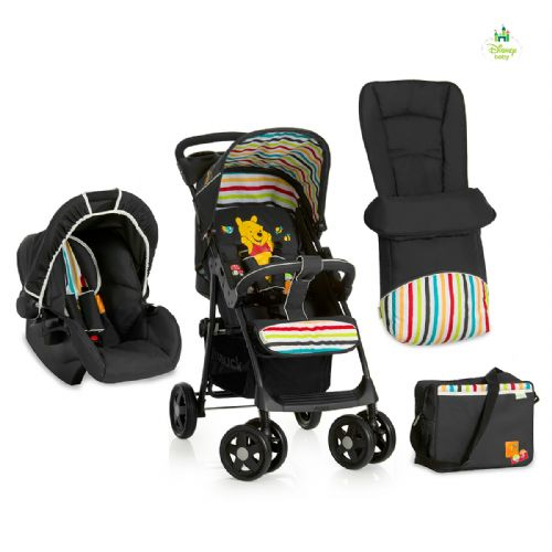 Brand New  Hauck-Disney-Winnie-the-Pooh-Tidy-time-Travel-System-shopper-pushchair-pram-SET